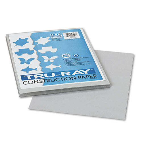 Tru-ray Construction Paper, 76lb, 9 X 12, Gray, 50-pack