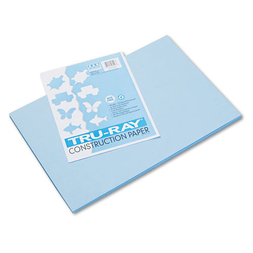 Tru-ray Construction Paper, 76lb, 12 X 18, Sky Blue, 50-pack