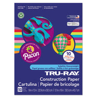 Tru-ray Construction Paper, 76lb, 12 X 18, White, 50-pack