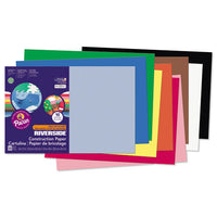 Riverside Construction Paper, 76lb, 12 X 18, Pink, 50-pack