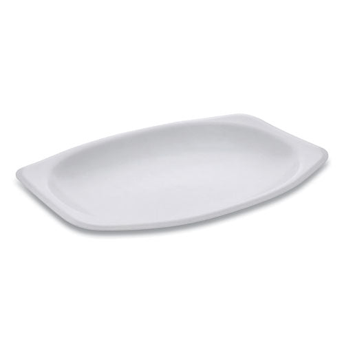 Unlaminated Foam Dinnerware, Platter, Oval, 9 X 7, White, 800-carton