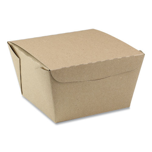 Earthchoice Onebox Paper Box, 46 Oz, 4.5 X 4.5 X 3.25, Kraft, 200-carton