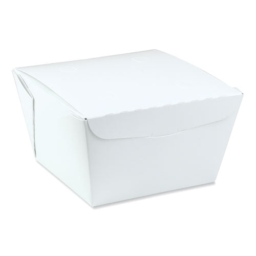 Earthchoice Onebox Paper Box, 46 Oz, 4.5 X 4.5 X 3.25, White, 200-carton