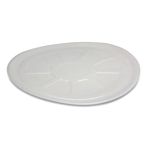 "Pressware Paperboard Trays, 16.5"" Diameter X 0.63""h, White-brown Specs, 150-carton"