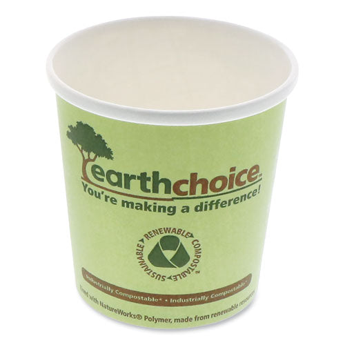 "Earthchoice Compostable Container, Large Soup, 16 Oz, 3.63"" Diameter X 3.88""h, Green, 500-carton"