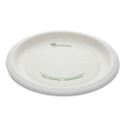 "Earthchoice Pressware Compostable Dinnerware, Plate, 9"" Diameter, White, 450-carton"