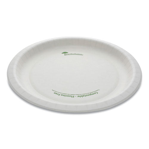 "Earthchoice Pressware Compostable Dinnerware, Plate, 10"" Diameter, White, 300-carton"