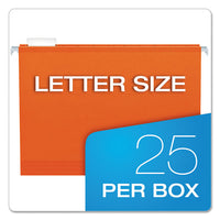 Extra Capacity Reinforced Hanging File Folders With Box Bottom, Letter Size, 1-5-cut Tab, Orange, 25-box