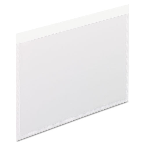 Self-adhesive Pockets, 4 X 6, Clear Front-white Backing, 100-box