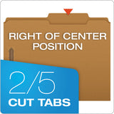 Kraft Folders With Two Fasteners, 2-5-cut Tabs, Right Of Center, Letter Size, Kraft, 50-box