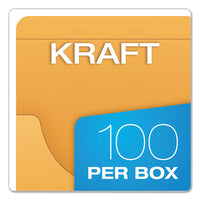 Expandable Kraft Retention Jackets, Straight Tab, Letter-legal Size, Brown, 100-box