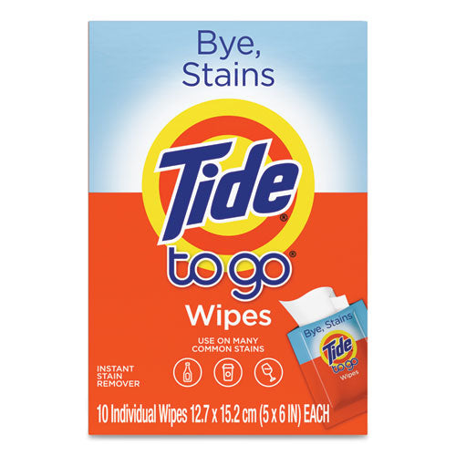 To Go Instant Stain Remover Wipes, 6 X 5, Scented, 10-box