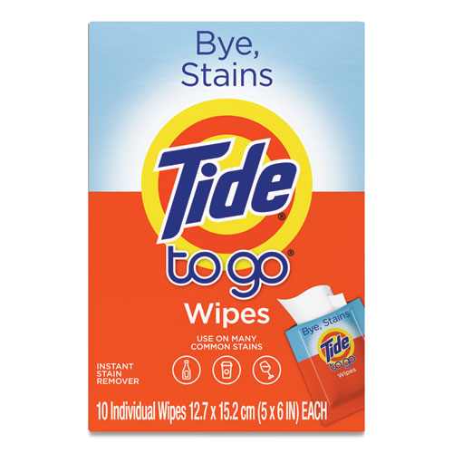 To Go Instant Stain Remover Wipes, 6 X 5, Scented, 10-box, 12 Boxes-carton