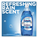 Ultra Platinum Dishwashing Liquid, Refreshing Rain, 34 Oz Bottle, 8-carton