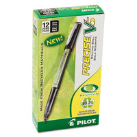 Precise V5 Begreen Stick Roller Ball Pen, 0.5mm, Black Ink-barrel, Dozen