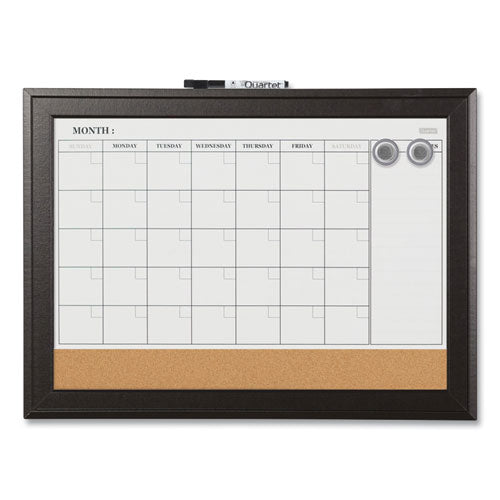 Home Decor Magnetic Combo Dry Erase With Cork Board On Bottom, 23 X 17, Espresso Wood Frame