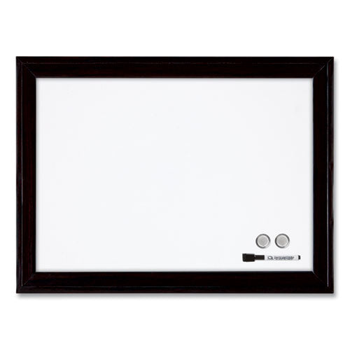 Home Decor Magnetic Dry Erase Board, 23 X 17, Black Wood Frame