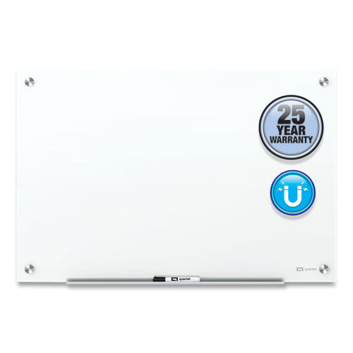 Brilliance Glass Dry-erase Boards, 96 X 48, White Surface
