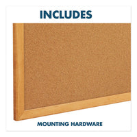 Bulletin-dry-erase Board, Melamine-cork, 48 X 36, White-brown, Oak Finish Frame