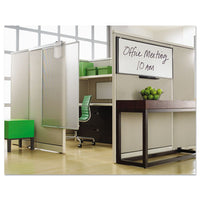 Prestige Cubicle Total Erase Whiteboard, 36 X 18, White Surface, Graphite Frame