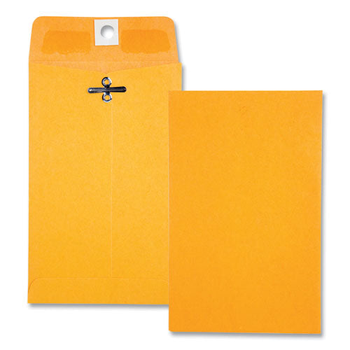 Clasp Envelope, #15, Cheese Blade Flap, Clasp-gummed Closure, 4 X 6.38, Brown Kraft, 100-box