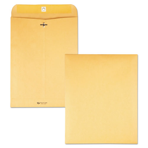 Clasp Envelope, #93, Cheese Blade Flap, Clasp-gummed Closure, 9.5 X 12.5, Brown Kraft, 100-box
