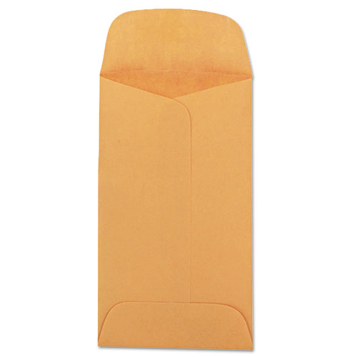 Kraft Coin And Small Parts Envelope, #3, Square Flap, Gummed Closure, 2.5 X 4.25, Brown Kraft, 500-box