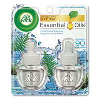 Scented Oil Refill, Fresh Waters, 0.67 Oz, 2-pack, 6 Pack-carton