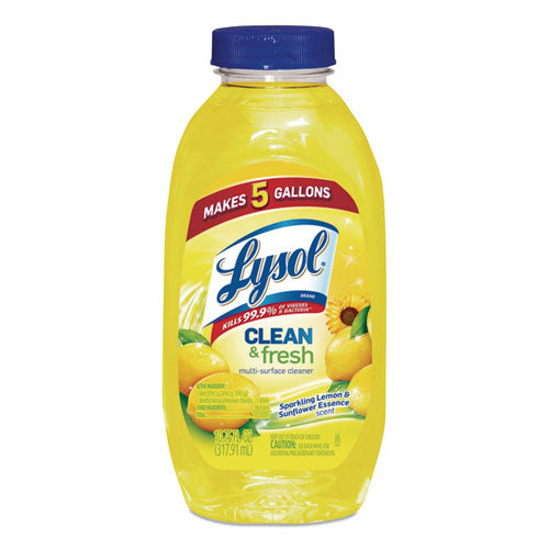 Clean And Fresh Multi-surface Cleaner, Sparkling Lemon And Sunflower Essence, 10.75 Oz Bottle, 20-carton