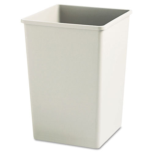 Plaza Waste Container Rigid Liner, Square, Plastic, 35 Gal, Beige