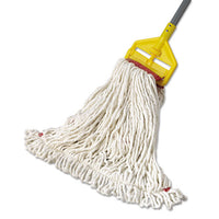 Web Foot Wet Mop Head, Shrinkless, Cotton-synthetic, White, Large, 6-carton