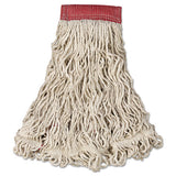 Swinger Loop Wet Mop Heads, Cotton-synthetic, Blue, Medium