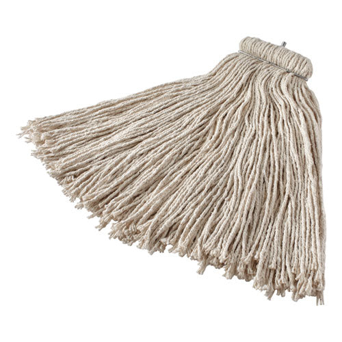 Non-launderable Cotton-synthetic Cut-end Wet Mop Heads, 16 Oz, White, Twister White Headband