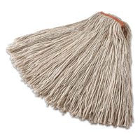 "Non-launderable Cotton-synthetic Cut-end Wet Mop Heads, 32 Oz, 1"" Band, Red"