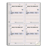Wirebound Message Book, 4 X 5 1-2, Two-part, 200 Forms, 120 Alert Labels