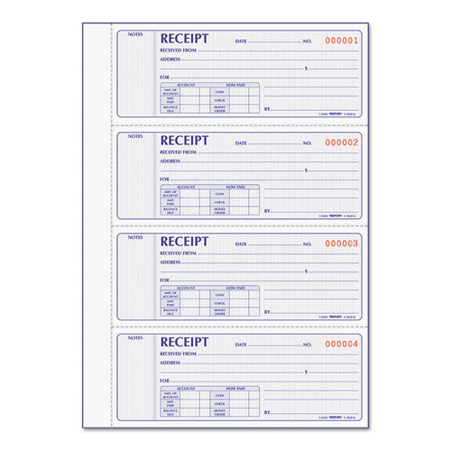 Receipt Book, 7 X 2 3-4, Carbonless Duplicate, 400 Sets-book