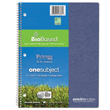 Environotes Biobased Notebook, 1 Subject, Medium-college Rule, Assorted Earthtones Covers, 11 X 8.5, 70 Sheets