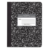 Marble Cover Composition Book, Wide-legal Rule, Black Cover, 9.75 X 7.5, 100 Sheets