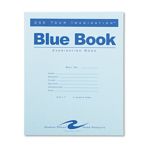 Examination Blue Book, Wide-legal Rule, 8.5 X 7, White, 4 Sheets