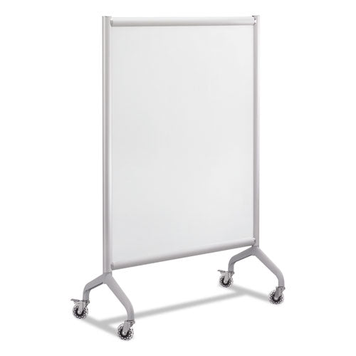 Rumba Full Panel Whiteboard Collaboration Screen, 36w X 16d X 54h, White-gray