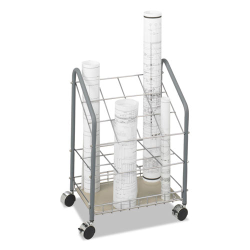 Wire Roll-files, 12 Compartments, 18w X 12.75d X 24.5h, Gray