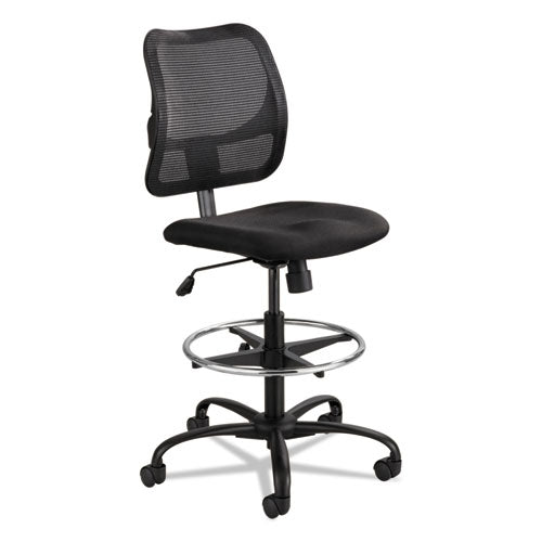 "Vue Series Mesh Extended-height Chair, 33"" Seat Height, Supports Up To 250 Lbs., Black Seat-black Back, Black Base"
