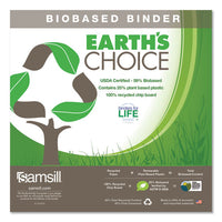 "Earth's Choice Biobased Economy Round Ring View Binders, 3 Rings, 4"" Capacity, 11 X 8.5, White"