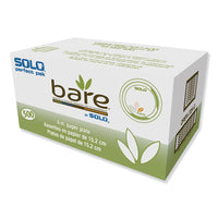"Bare Paper Eco-forward Dinnerware, 6"" Plate, Green-tan, 500-carton"