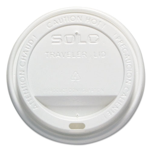 Traveler Cappuccino Style Dome Lid, 12-16oz Hot Cups, White, 50-pack, 6 Packs-carton