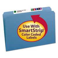 Reinforced Top Tab Colored File Folders, Straight Tab, Legal Size, Blue, 100-box
