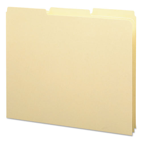 Recycled Blank Top Tab File Guides, 1-3-cut Top Tab, Blank, 8.5 X 11, Manila, 100-box