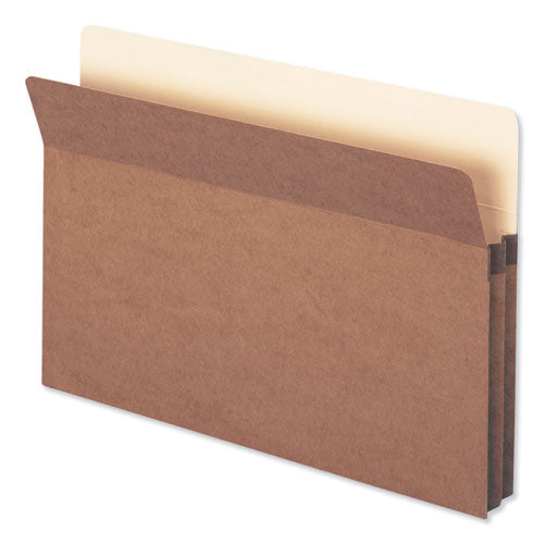 "Redrope Drop Front File Pockets, 1.75"" Expansion, Legal Size, Redrope, 25-box"