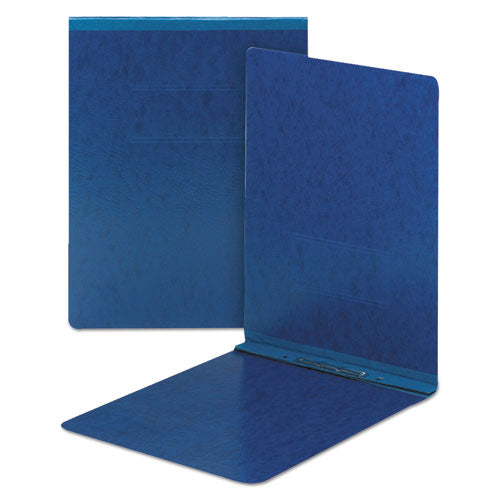 Top Opening Press Guard Report Cover, Prong Fastener, Letter, Dark Blue