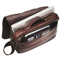 Leather Flapover Case, 16 X 6 X 13, Brown